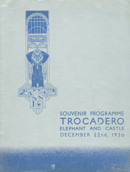 Souvenir programme from the Trocadero's opening night, from the Bill Douglas Cinema Museum, item BD018926: bdcmuseum.org.uk